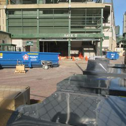 10:06 a.m. The area outside of Gate D, at Addison and Sheffield -
