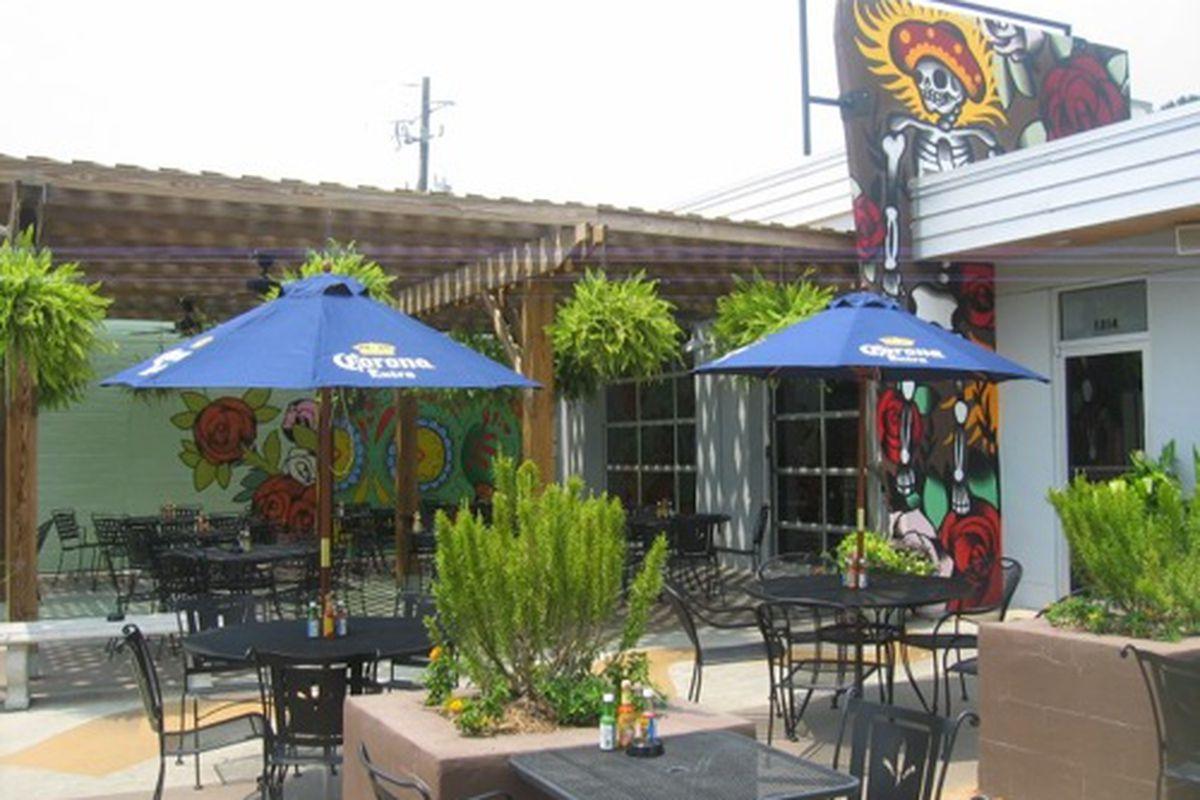 The patio at Holy Taco.