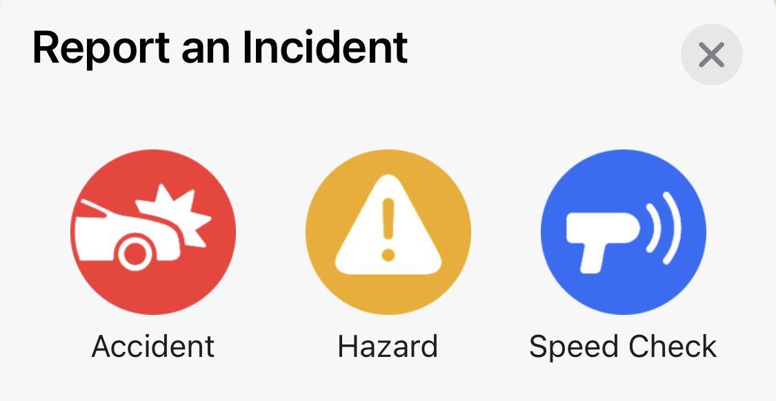 Apple Maps segnalazione incidenti