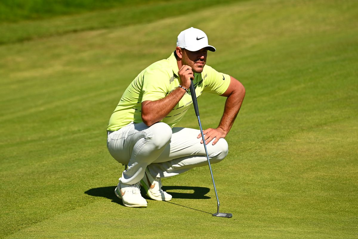 Brooks Koepka of The United States looks on on the 18th hole during Day Four of The 149th Open at Royal St George's Golf Club on July 18, 2021 in Sandwich, England.