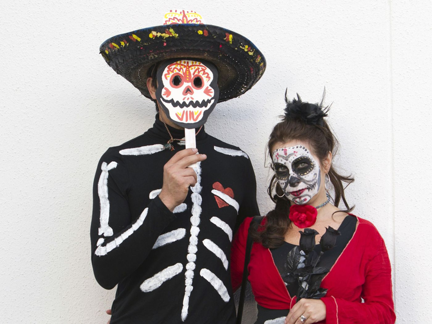 Scared To The Bone Girls Halloween Fancy Dress Day Of The Dead Childrens Costume