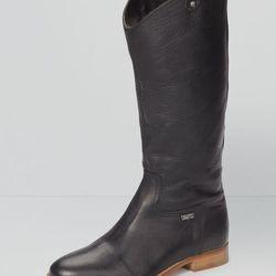 "Leather riding boots, black, were $198, now <a href=""http://us.levi.com/product/index.jsp?productId=13180778&Camp=CME%3AWomensShoesFS%3A20130221&csm=409004731&csc=586163&csa=409005411&csu=586170&"">$140</a>"