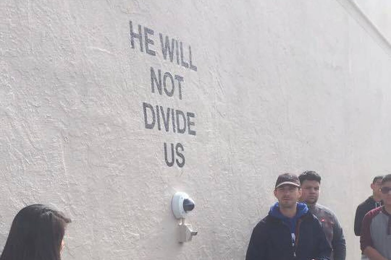 He Will Not Divide Us Exhibit Has Found A New Home The Verge - He will not divide us google maps
