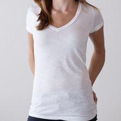 "Women's slub V, <a href=""http://www.marinelayer.com/shop/womens/womens-white-v.html"">$35</a>"
