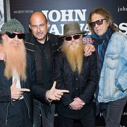 The designer brought his rockstar pals, Billy Gibbons and Dusty Hill of ZZ Top; photographer Mick Rock was also on hand.