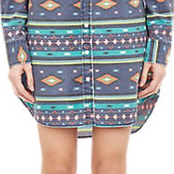 "Chip Foster tribal-print shirtdress, <a href=""http://www.barneys.com/chip-foster-tribal-print-shirtdress-503727804.html#prefn1=onSale&sz=48&start=58&prefv1=Sale"">$59</a> (from $248)"