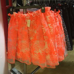 9. Maje neon skirt ($85): This added a bright punch to all of the neutrals hanging beside it on the racks.