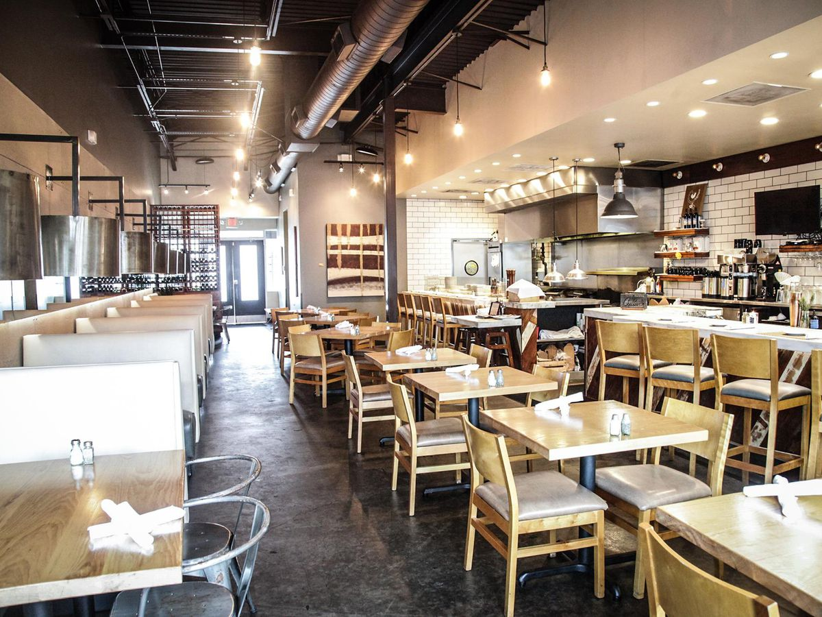 Origin Kitchen + Bar's dining room