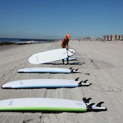 Pro surfer Matt Keenan & his team gave surfing lessons.