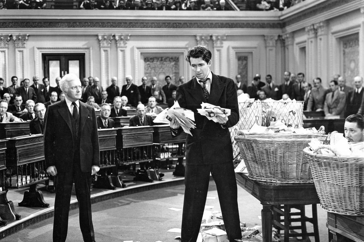 mr smith goes to washington has become synonymous the  claude rains and jimmy stewart in mr smith goes to washington