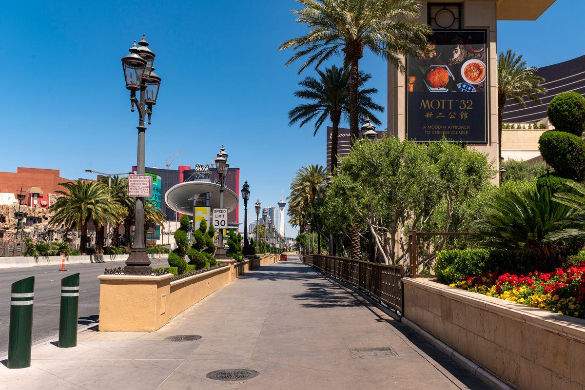 The Las Vegas Strip near the Venetian