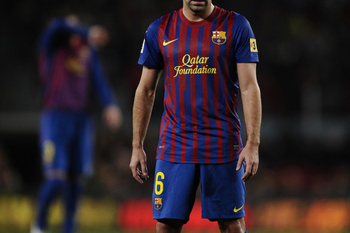 Xavi could find himself on the bench today because of slight injury problems.