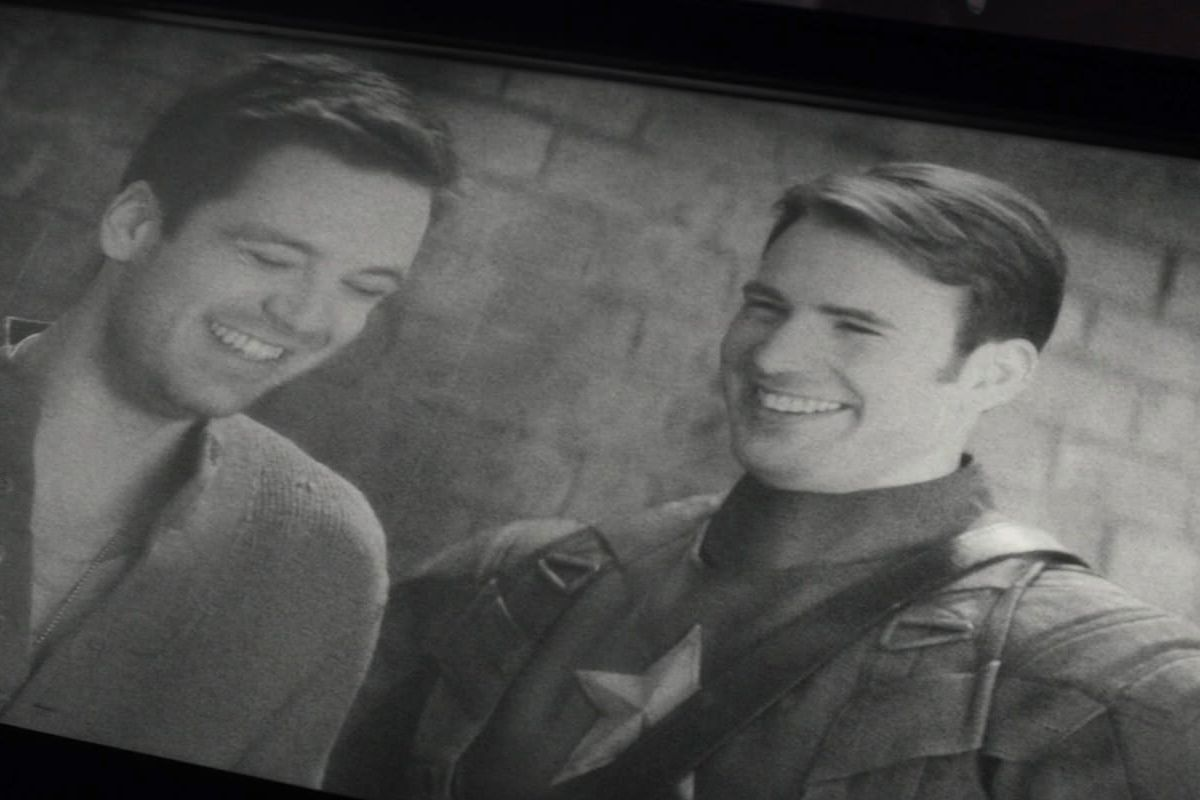 Bucky Barnes And Steve Rogers In Smithsonian Footage Shown In Captain America Civil War Marvel Studios