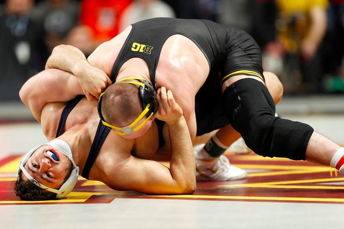 afe664e63e Iowa Wrestling: Alex Marinelli is a Big Ten Champ, Hawkeyes Take ...