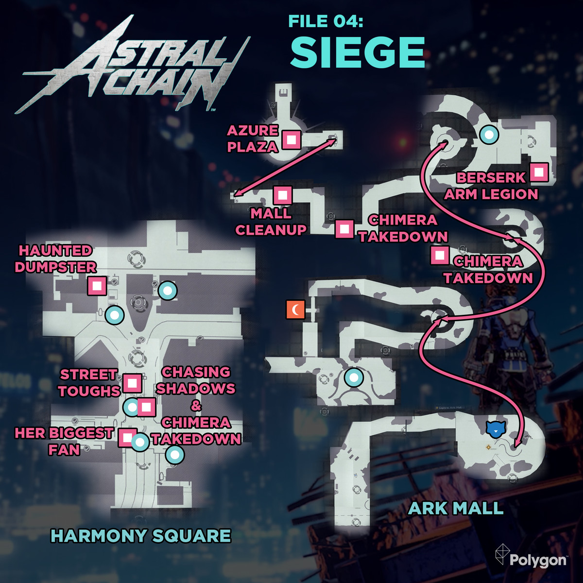 Astral Chain guide: File 04 Siege cases, cats, and bathroom