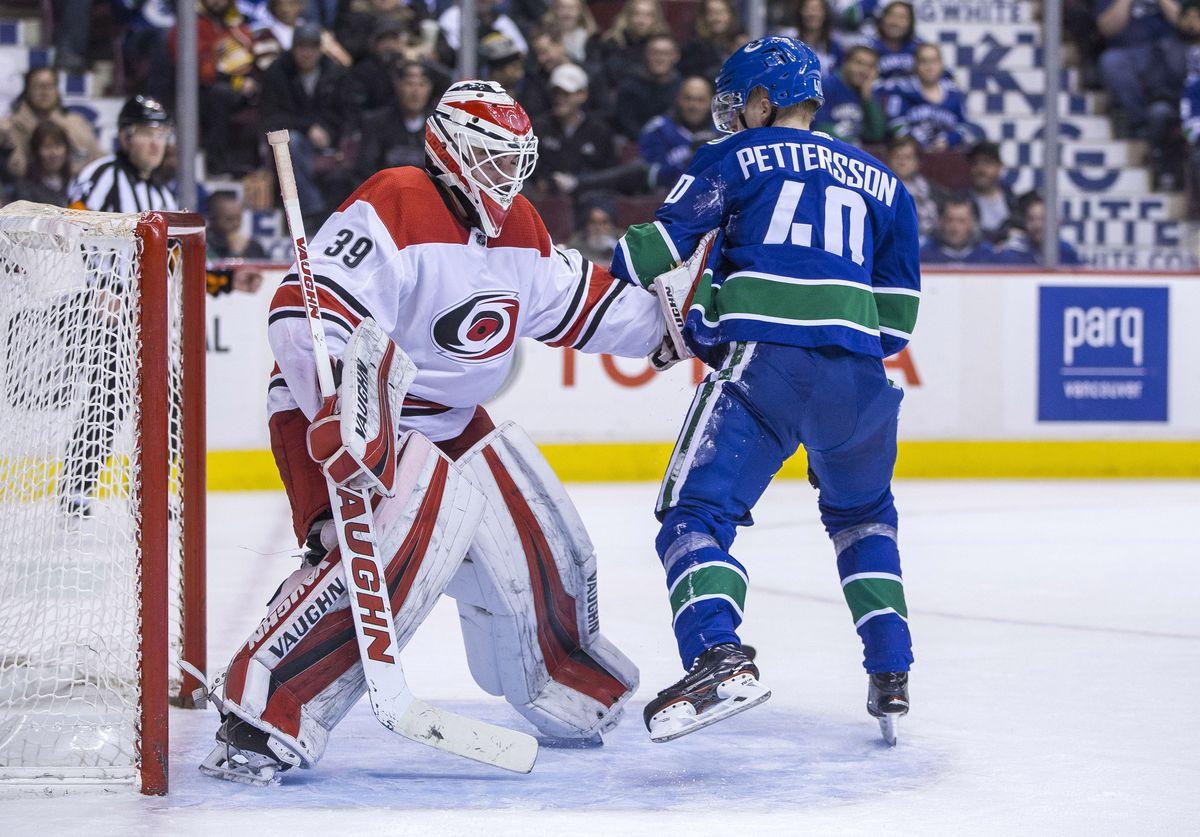 NHL: Carolina Hurricanes at Vancouver Canucks
