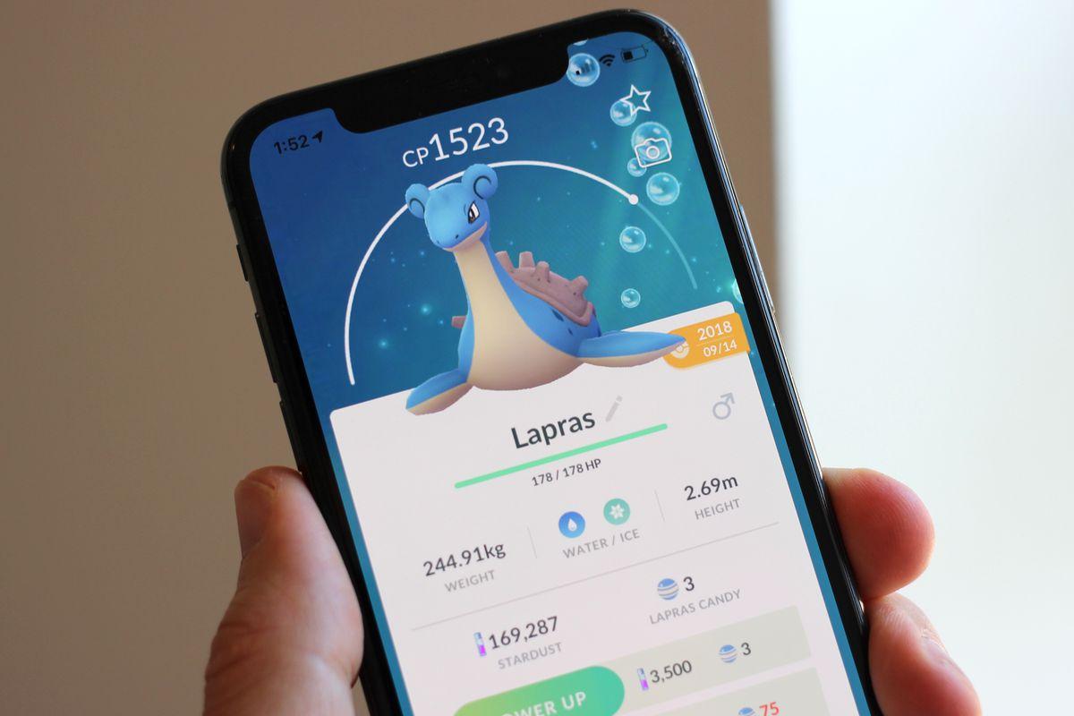 Lapras in Pokemon Go