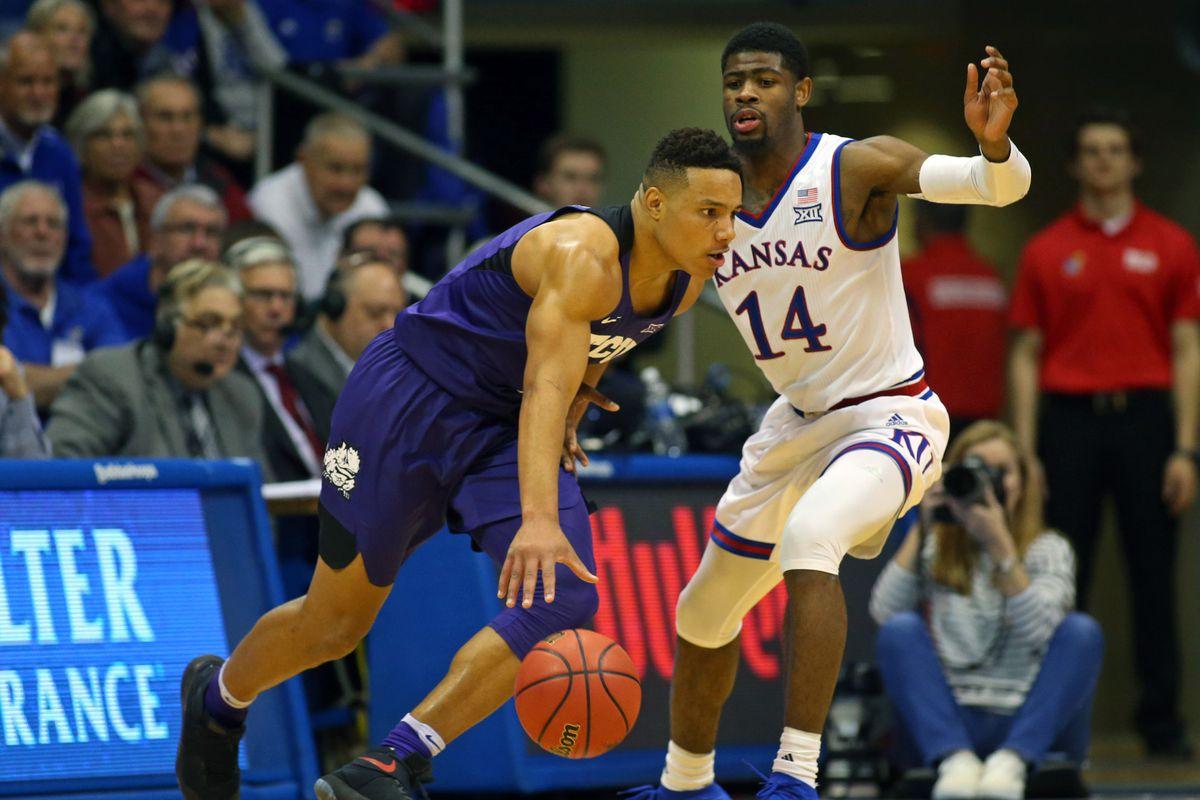 NCAA Basketball: Texas Christian at Kansas
