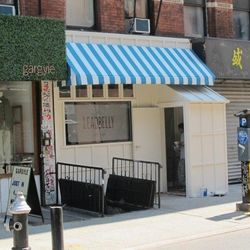 """Leadbelly via <a href=""""www.boweryboogie.com/2012/08/leadbelly-opening-on-orchard-next-week/"""">Bowery Boogie</a>."""
