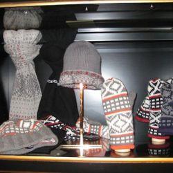 Bergdorf Goodman cashmere Fairisle accessories, $125-$295
