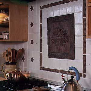 <p>Ceramic-tile murals are custom-made or come in preassembled kits. They highlight specific areas of the room.</p>