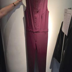 V neck jumpsuit, $100