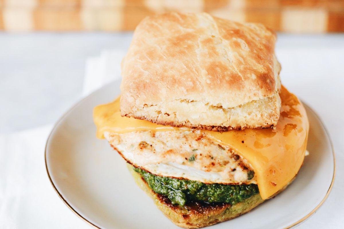 A biscuit sandwich from Bird Bird Biscuit