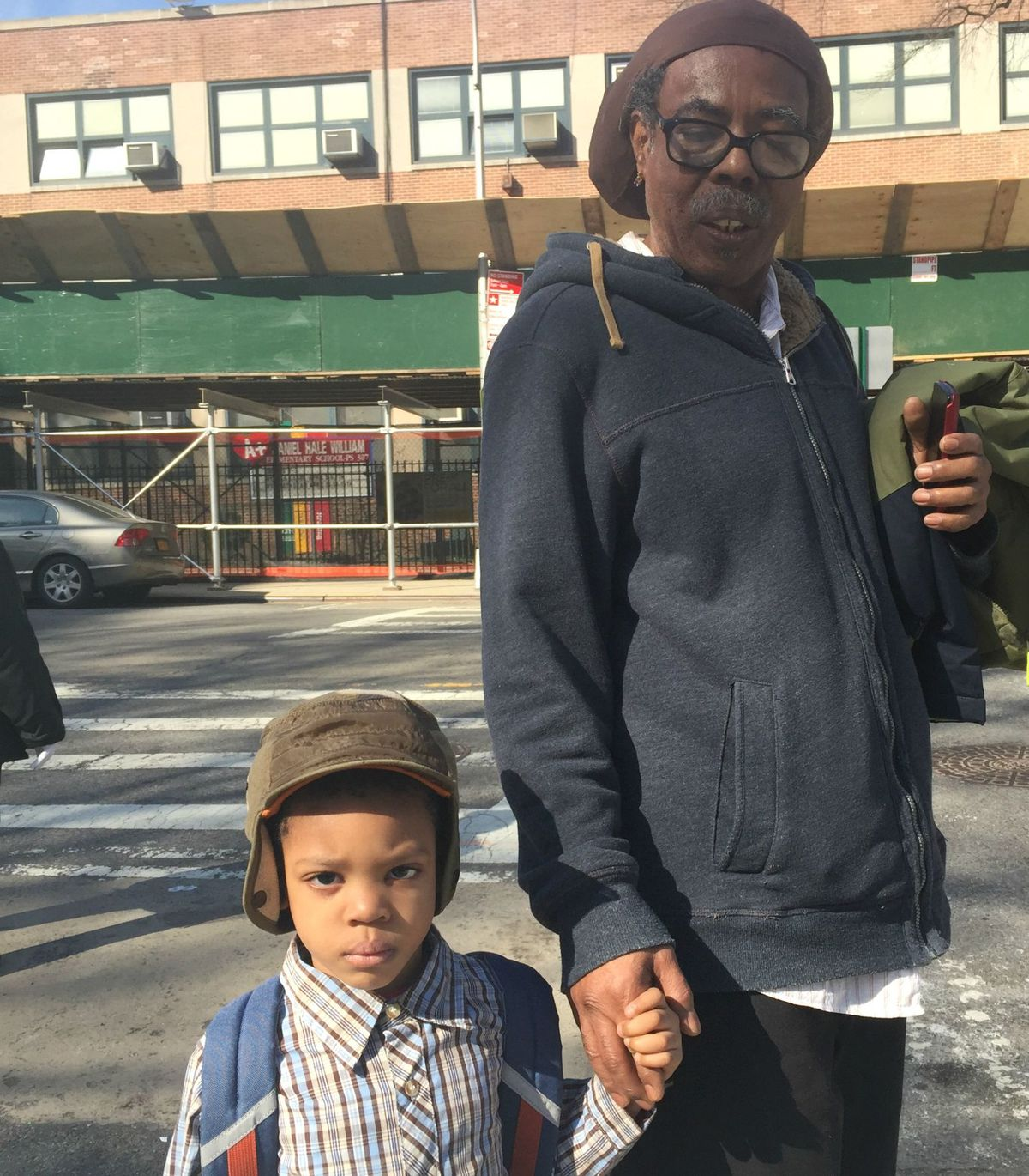 Carl King with his son, Josh, a pre-kindergarten student at P.S. 307.