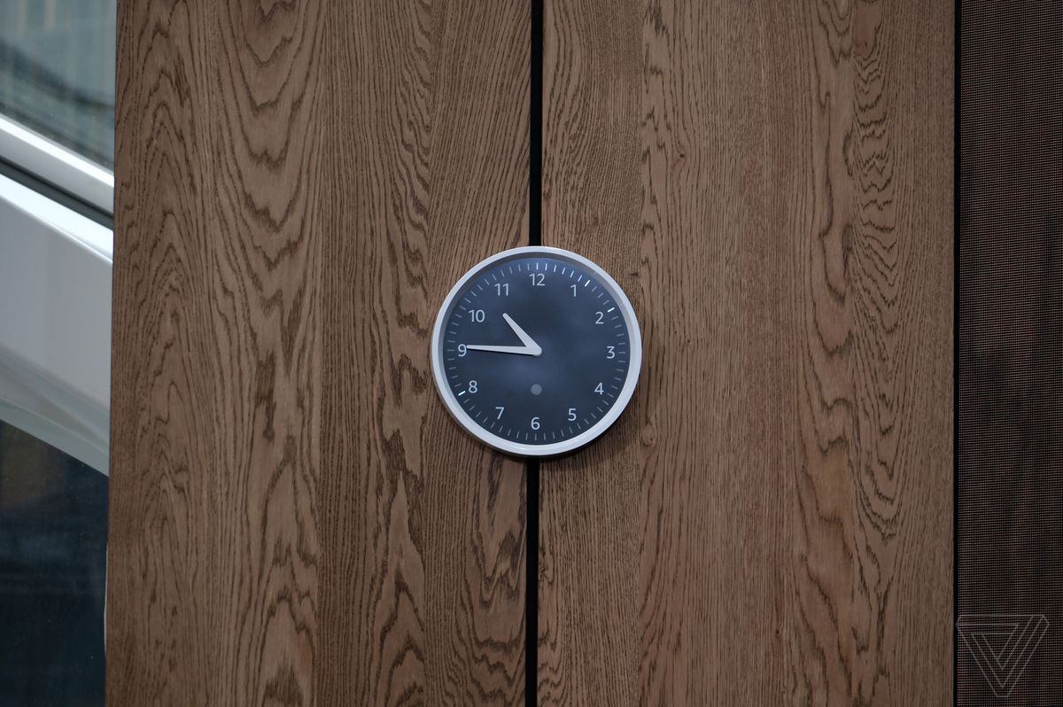 amazon s echo wall clock is a physical display for your alexa timers
