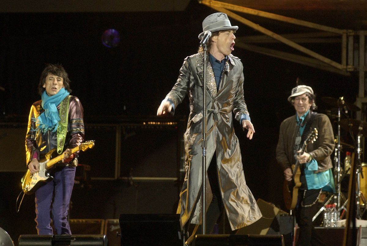 The Rolling Stones in concert at Soldier Field on Oct. 11, 2006.   Sun-Times photo by Tom Cruze