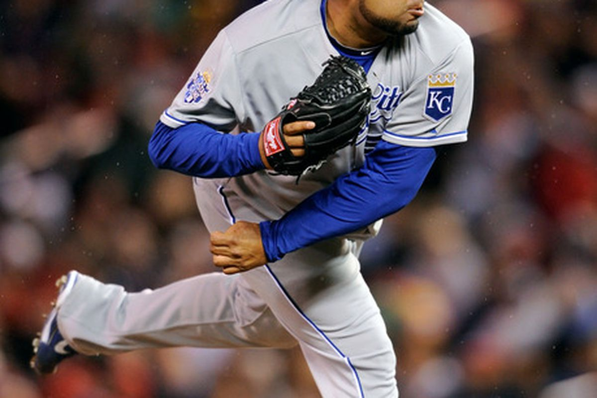 Jose Mijares pitched a scoreless 7th inning for Kansas City and earned the win. Yes, that Jose Mijares.