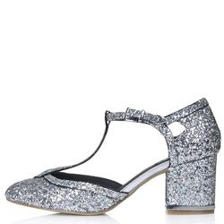 "Topshop 'Joyful' glitter T-bar heels, <a href=""http://us.topshop.com/en/tsus/product/joyful-glitter-t-bar-heels-3241915?geoip=noredirect&network=linkshare&utm_source=linkshare&utm_medium=affiliate&utm_campaign=J84DHJLQkR4&siteID=J84DHJLQkR4-WoFt2qqAUDRG9t"