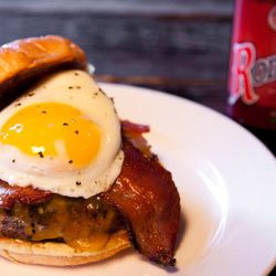 """Sunrise bison burger at <a href=""""http://f.curbed.cc/f/CityEats_EDC_SP_062812_Granville""""><b>Granville Moore's</b></a>. Perfect for breakfast meetings."""