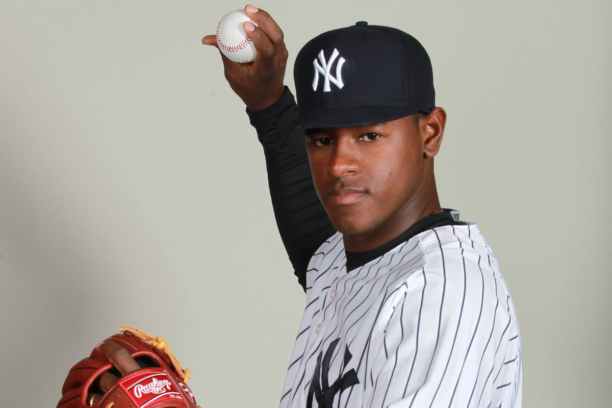 Yankees right handed pitcher Luis Severino.
