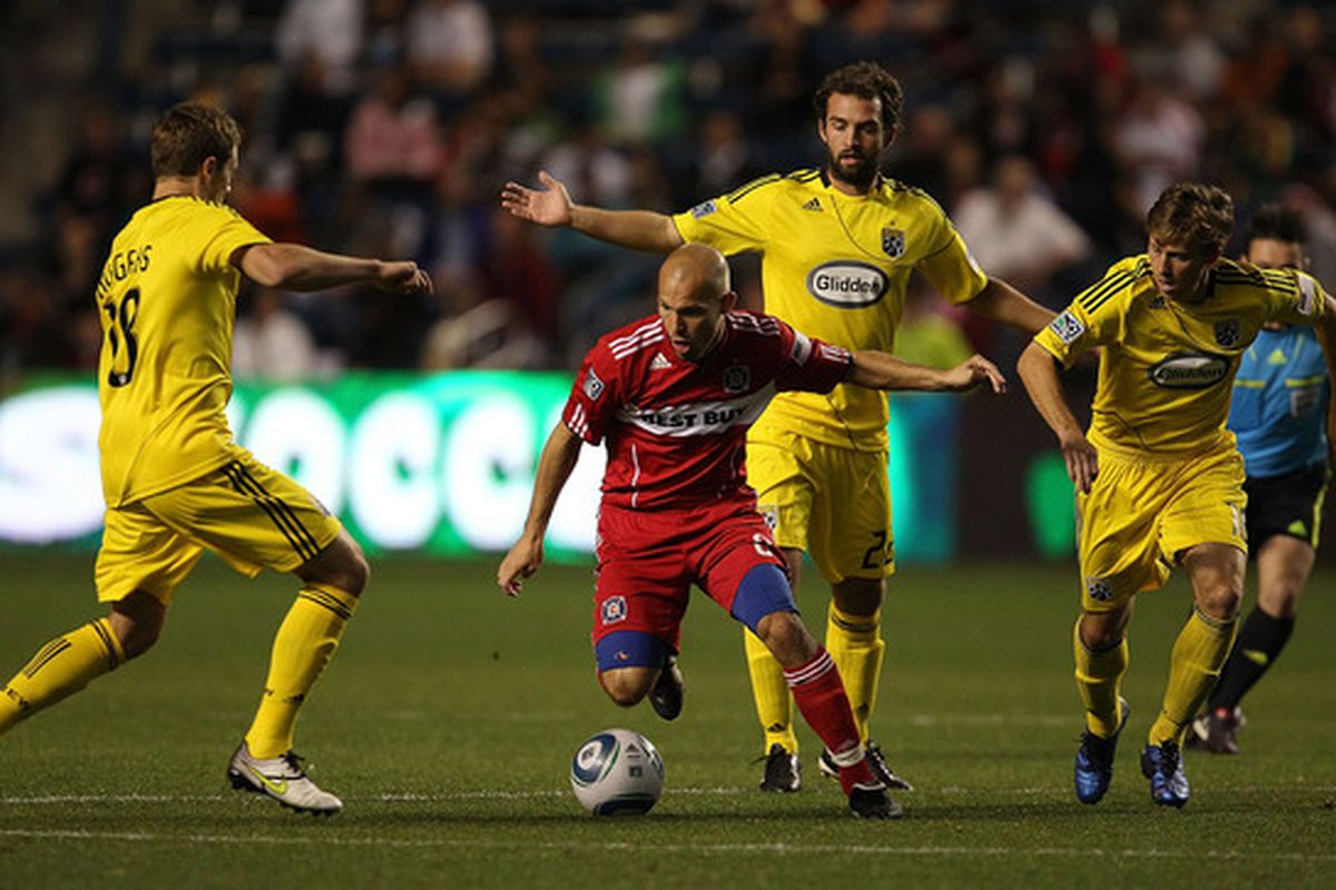 Who will defy three Columbus defenders with one touch now?  Well probably Patrick Nyarko but that's beside the point...