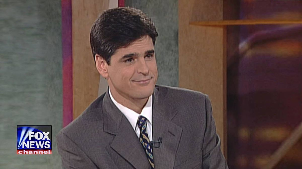 Sean Hannity is pictured on the Fox News Channel in 1996.