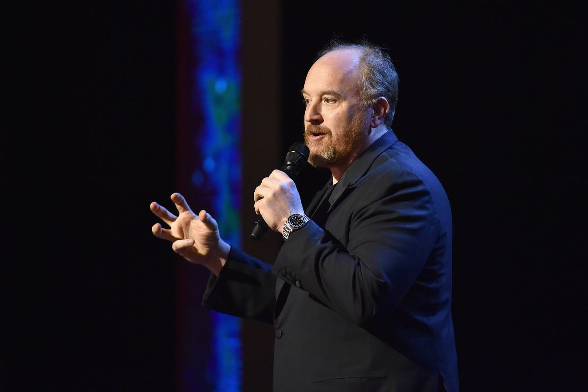 Louis C.K. on stage in New York City in February 2015.