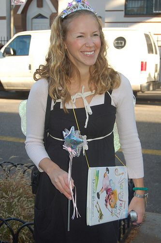 Librarian Danielle Taylor Brocco dressed as Alice the Fairy.