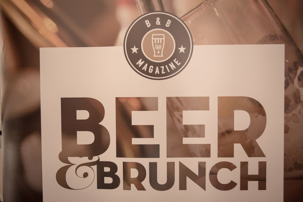An exhibition logo saying beer brunch seen during the 5th...