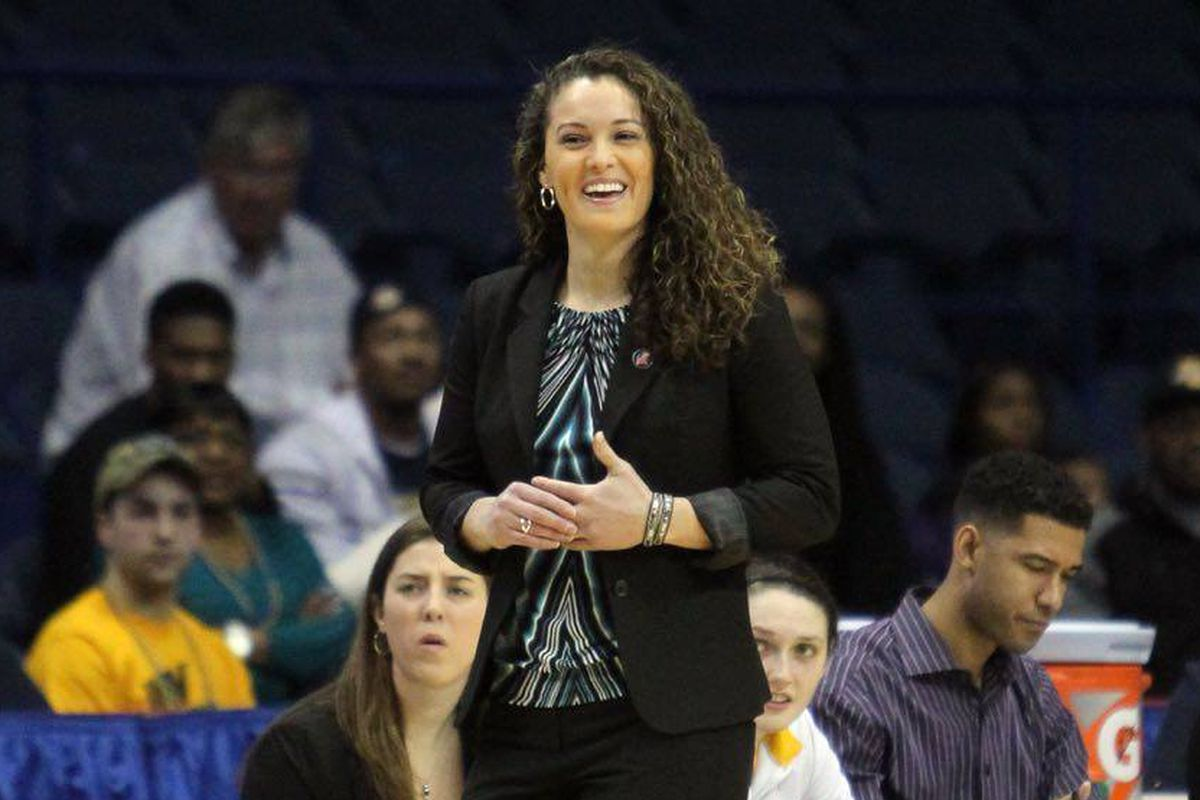 Head coach Carolyn Kieger is leading the youngest team in Division 1 this season.
