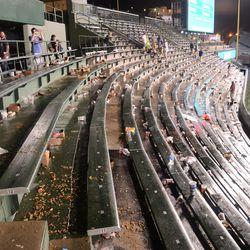 11:47 p.m The right-field bleachers -