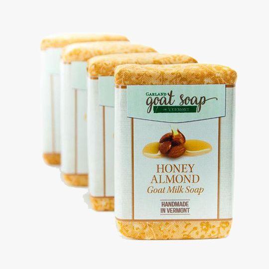 Bars of honey almond goat milk soap