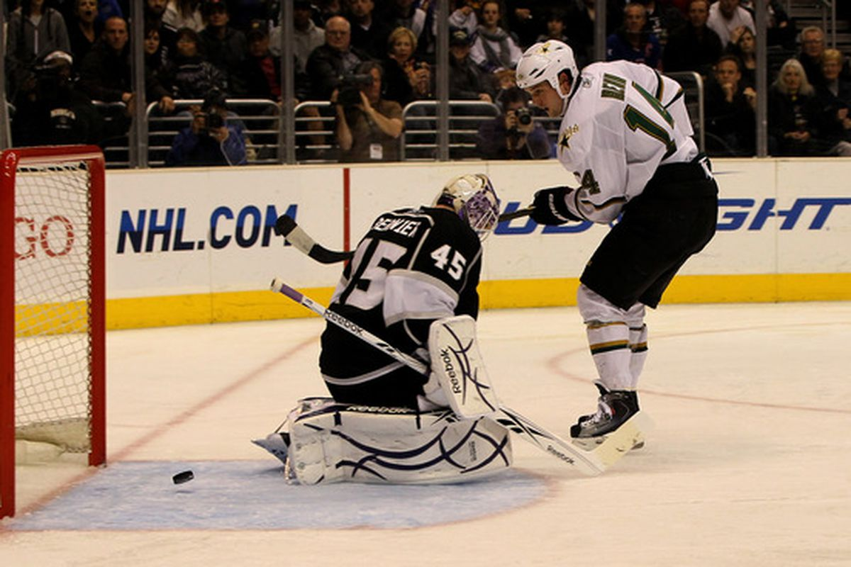 I wonder if Jamie Benn will do more of this against the Los Angeles Kings?