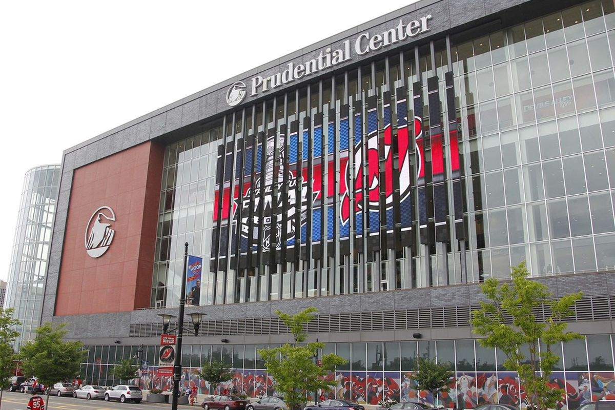 June 9, 2012; Newark, NJ, USA; A general view outside before game five of the 2012 Stanley Cup Finals between the Los Angeles Kings and New Jersey Devils at the Prudential Center.  Jim O'Connor-US PRESSWIRE