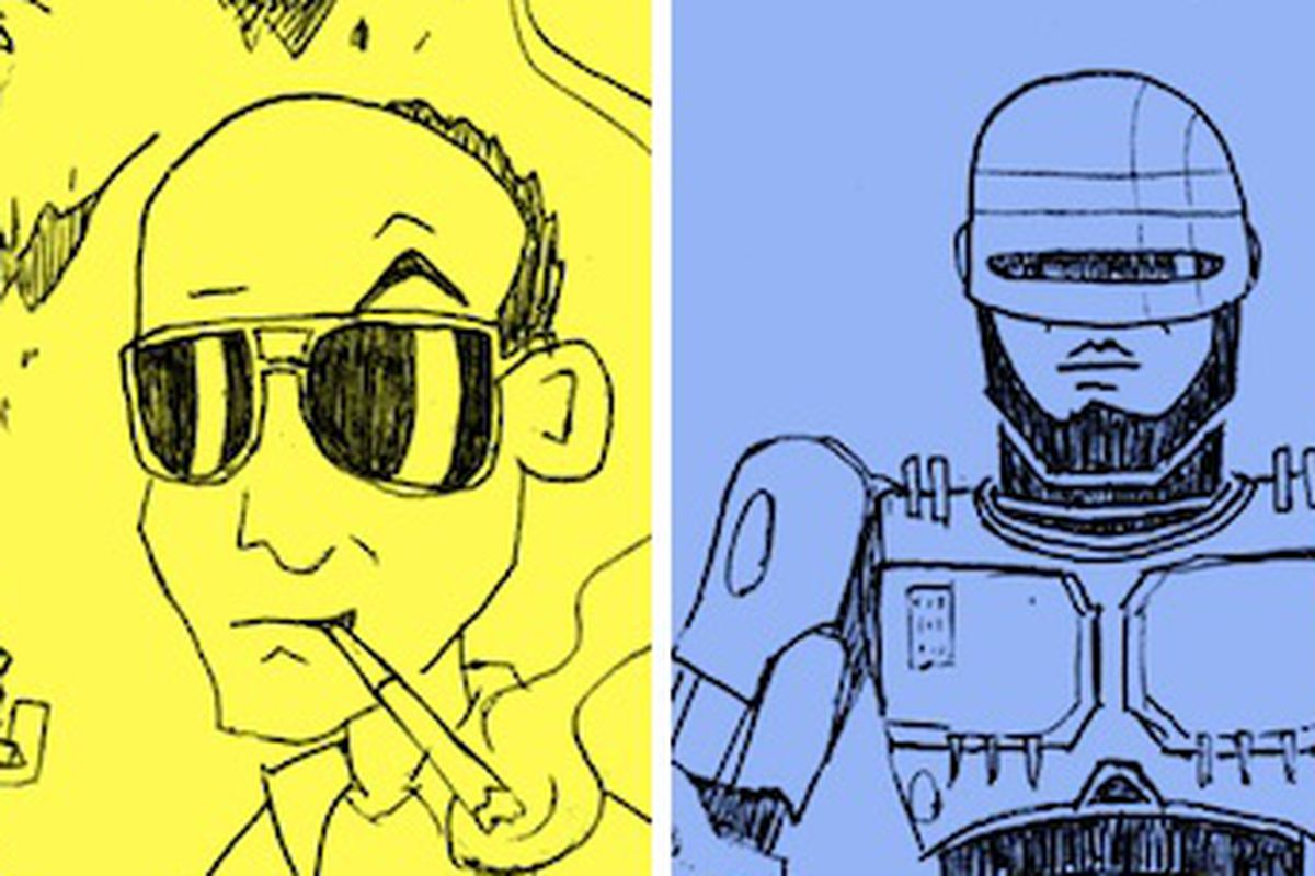 Examples of the types of doodles you can commission Chad Frierson to make for you.
