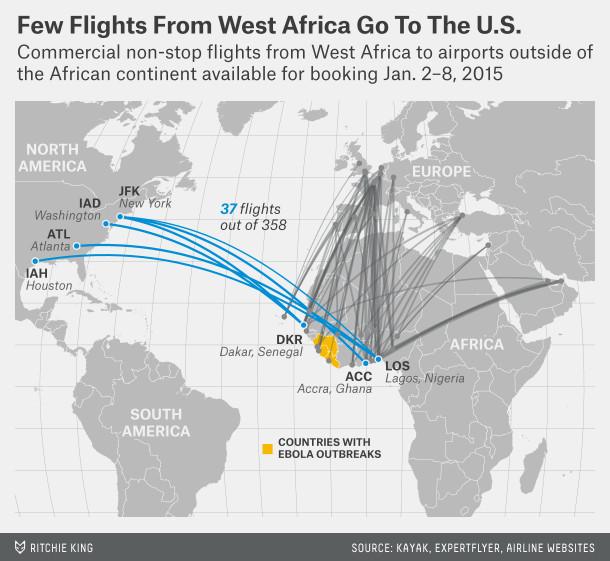 West Africa flight map Ebola FiveThirtyEight