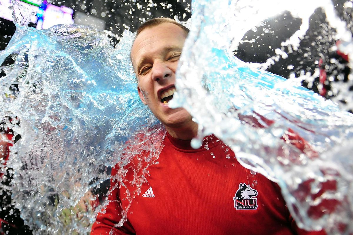 Surf's up, Dave Doeren. In a relegation world, the MAC Championship would be an invitation to the Big Ten for, like, a year. (Andrew Weber-US PRESSWIRE)