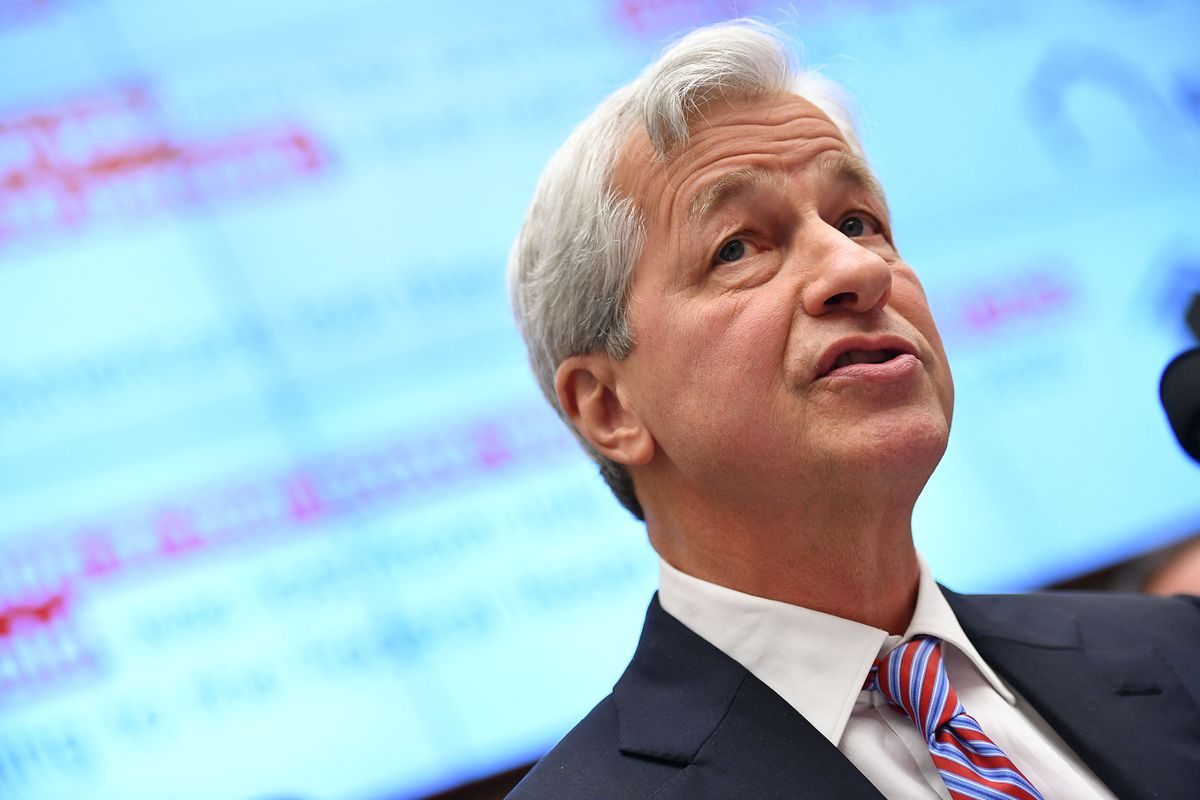 JP Morgan Chase & Co. Chairman & Chief Executive Officer Jamie Dimon testifies before the House Financial Services Committee on accountability for mega banks in the Rayburn House Office Building on Capitol Hill in Washington, DC on April 10, 2019.