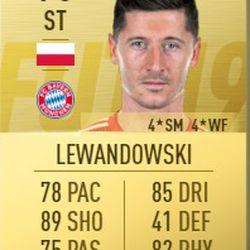 Robert Lewandowski in FIFA 2019