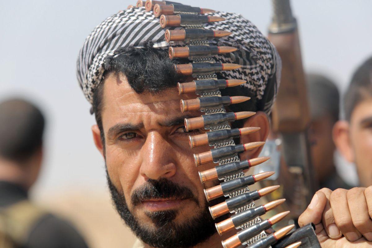 An Iraqi soldier.